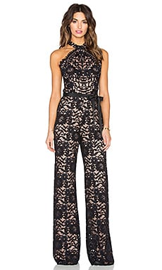 Alexis Rene Jumpsuit in Black Lace