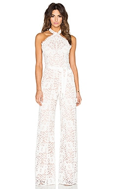 Alexis Rene Jumpsuit in White Lace