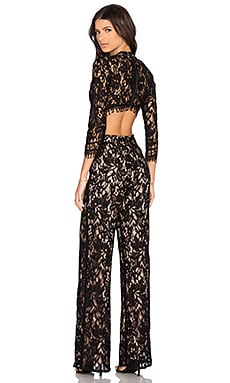 Richard Jumpsuit en Encaje negro