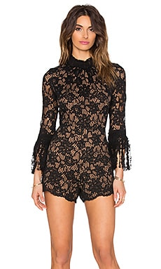 Alexis JIng Romper in Black Lace