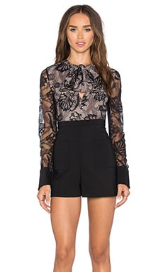 Alexis Moya Romper in Black Lace