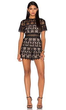 Alexandria Romper in Black Lace