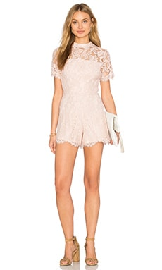 Alexis Delfine Romper in Blush Lace