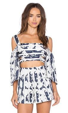 Naja Top en Navy Blossom