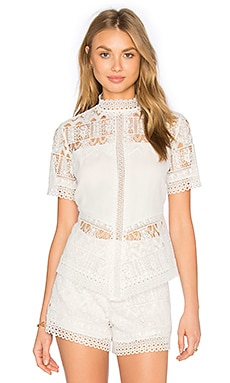 Alexis Blayze Top in White Lace