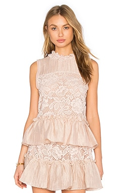 Gracilia Top in Blush Lace