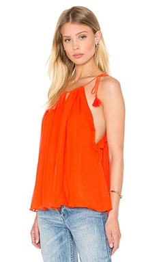 Devan Top in Red Orange