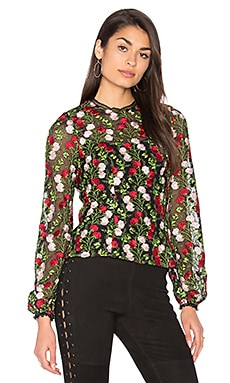 Aida Blouse in Rose Embroidery Blossom