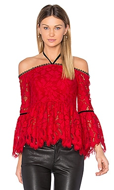 Grace Top in Red Lace