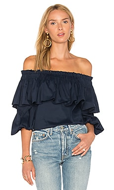 Barbie Top in Navy Blue
