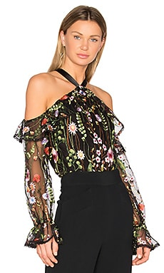 Kylie Top in Black Garden