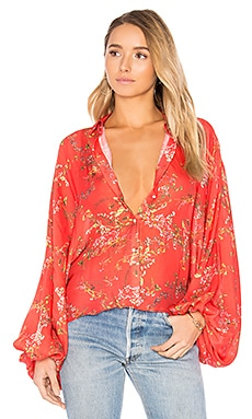 Nicolette Blouse in Blooming Red
