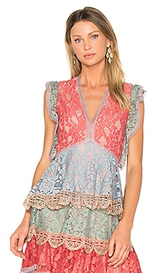 Kirk Top in Multicolor Lace