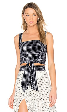 Sena Crop Tank in Navy Dot
