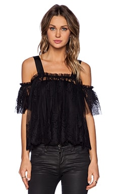 Alexis Brandon Lace Top in Black