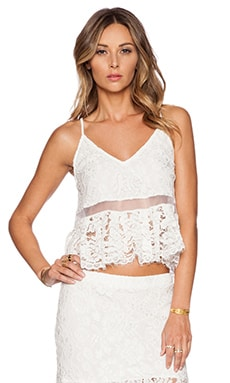 Alexis x REVOLVE Jax Pleated Lace Top in White