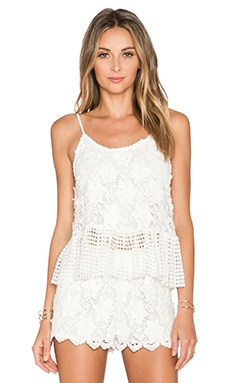 Alexis Reza Crochet Tank in White