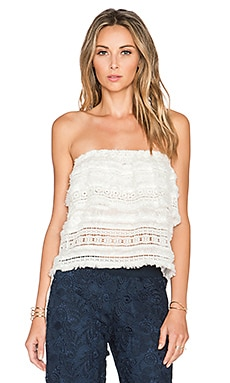 Alexis Valentin Lace Crop Top in White