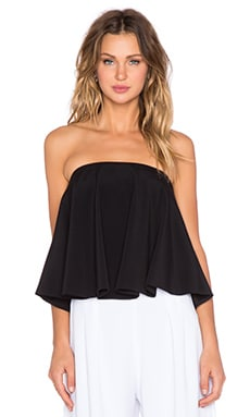 Alexis Phoebe Flared Top in Black