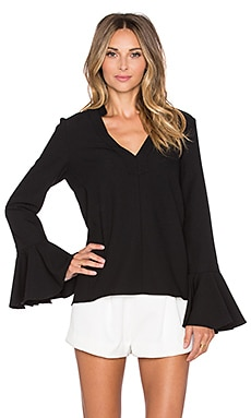 Alexis Danko Ruffle Sleeve Blouse in Black