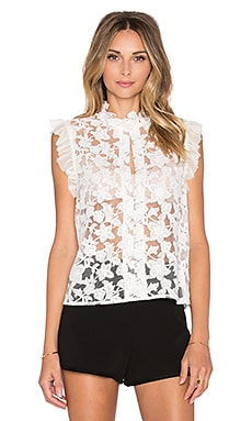 Alexis Fran Sleeveless Tank in White Embroiderey