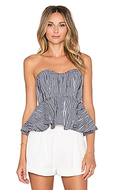 Alexis Mednas Peplum Top in Gingham