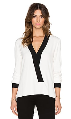 Alexis Adelaide Trim Blouse in White