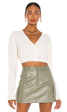 Cropped Ribbed Cashmere Cardigan Aya Muse $237