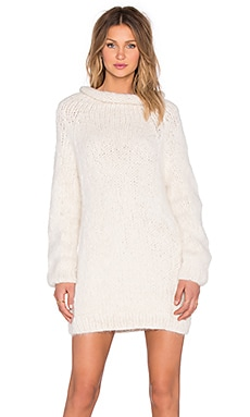 Anona Oversized Sweater Dress in Off White