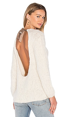 Nuqa Tie Back Sweater en Ivory