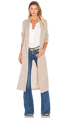 Yambara Long Cardigan in Beige