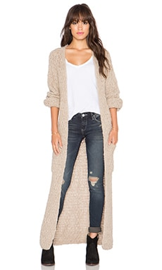 AYNI Abeto Long Cardigan in Beige