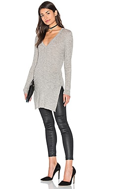 Sanka Side Slit V Neck Sweater
