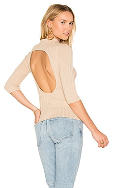 Nevada Rib Sweater in Beige