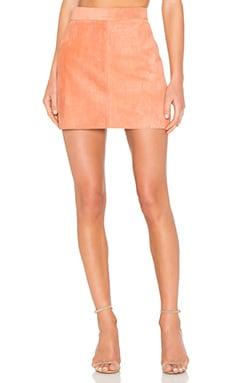 Platina Suede Skirt