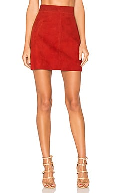 Wara Mini Skirt in Cherry Suede