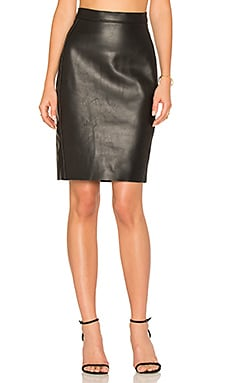 Honshu Leather Skirt in Black