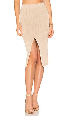 Phuket Midi Skirt in Beige