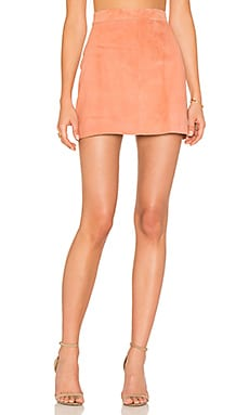 Platina Suede Mini Skirt in Blush