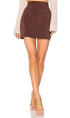 Замшевая мини-юбка с высокой талией platina - AYNI