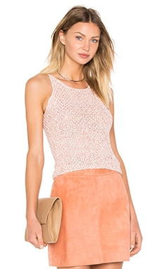 Asta Crochet Crop Top in Coral
