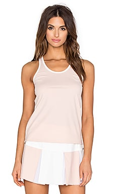 B3.0 B Fit Layering Racer Tank in Pink Sand & Bone