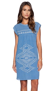 ba&sh Lauren Dress in Bleu P