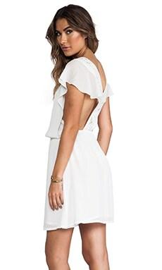 ba&sh Emma Cross Back Dress in Ecru