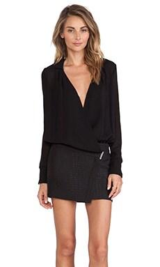 ba&sh Coquelicot Dress in Noir