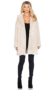 ba&sh Noe Faux Fur Coat in Beige