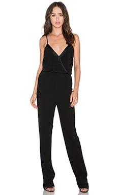 ba&sh Derek Jumpsuit in Noir
