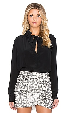 ba&sh Kyra Blouse in Noir