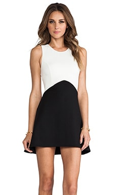 Backstage Open Your Heart Dress in Black/Ivory