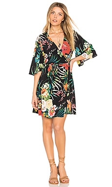 Elsie Wrap Dress in Ivy